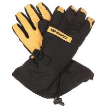 Купить перчатки сноубордические dakine nova glove black/tan черный,бежевый 1196338