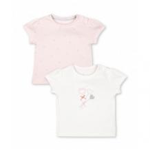 """Купить футболки """"бантики"""", 2 шт., розовый, белый mothercare 4134075"""