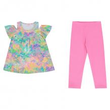 Купить комплект футболка/леггинсы апрель время чудес, цвет: розовый/фиолетовый д2др365