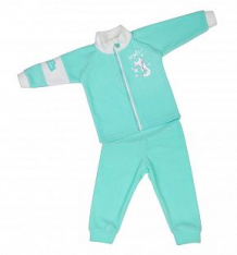 Купить комплект кофта/брюки babyglory лисенок, цвет: бирюзовый ( id 9778275 )
