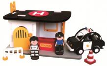 Купить конструктор bebox мягкий полицейский участок 67 деталей m5902