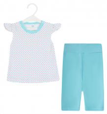 Купить комплект футболка/шорты aga girl, цвет: голубой ( id 8849485 )