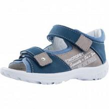 Купить сандалии котофей, цвет: синий/бежевый ( id 12778168 )