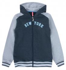 Купить толстовка kiki kids new york, цвет: серый/синий ( id 9591120 )