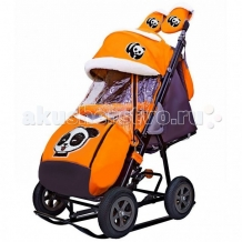 Купить санки-коляска galaxy snow city-1-1 панда надувные колёса
