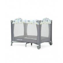 Купить кроватка-манеж классическая, с изображением слоненка, серый mothercare 9060638