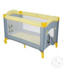 Купить манеж capella sweet time cosmocats (b), цвет: желтый/серый ( id 10212375 )