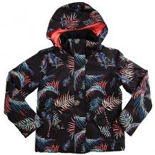 Купить куртка утепленная детская roxy rx jet girl true black_neon palm черный ( id 1187417 )