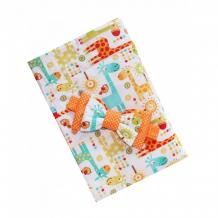 Купить lovelycare конверт-одеяло на выписку жирафики весна/осень + бант 100762