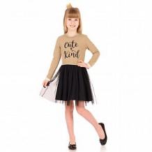 Купить платье апрель праздничный вечер, цвет: бежевый/черный ( id 12015544 )