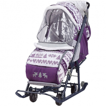 Купить санки-коляска ника нашидетки, принт скандинавcкий черничный (2019) ( id 7120383 )