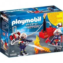Купить конструктор playmobil пожарная служба: пожарные с водяным насосом 9468pm