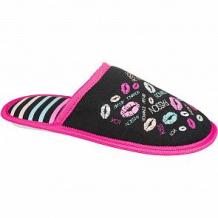 Купить тапочки mursu, цвет: фуксия/черный ( id 11837320 )