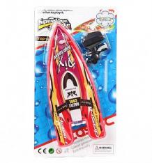 Купить лодка игруша цвет: белый, красный, 23 см ( id 10168536 )