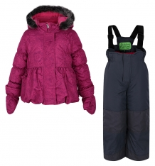 Купить комплект куртка/полукомбинезон peluche&tartine, цвет: розовый ( id 6774787 )
