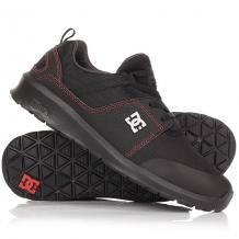 Купить кроссовки dc shoes heathrow presti black/red/grey черный