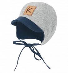 Купить шапка krochetta, цвет: серый/синий ( id 8855611 )