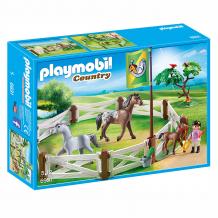 Купить конструктор playmobil конный клуб: загон для лошадей 6931pm