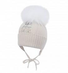 Купить шапка jamiks, цвет: бежевый ( id 6738498 )