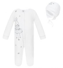 Купить комплект полукомбинезон/шапка koala, цвет: белый v5-958