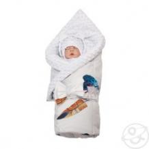 Купить комплект на выписку nb4 slingme, цвет: белый комбинезон/одеяло/шапка/снуд/бант 90 х 90 см ( id 12797914 )