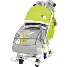 Купить санки-коляска nika baby 2 disney 101 далматинец, лимонные ( id 12865771 )
