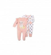 Купить комплект комбинезон 2 шт happy baby, цвет: розовый/белый ( id 10442090 )