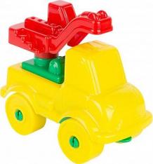 Конструктор Полесье Юный путешественник Автомобиль-кран, цвет: желтый (8 дет.) ( ID 5484187 )