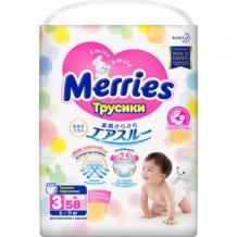 MERRIES Трусики-подгузники для детей размер M 6-10 кг 58шт Merries 993803712