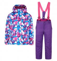 Купить комплект куртка/полукомбинезон fobs, цвет: розовый ( id 6195295 )