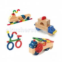 Купить конструктор genii creation магнитный деревянный транспорт мини 32 элемента mve10032