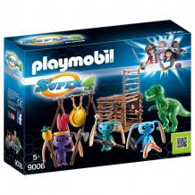 Купить конструктор playmobil супер4: инопланетный воин с т-рекс ловушкой 9006pm