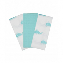 """Купить муслиновые салфетки mothercare """"киты"""", 3 шт. mothercare 3836871"""