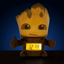 Часы Марвел (Marvel) Будильник BulbBotz Guardians of the Galaxy Groot 14 см 2021340
