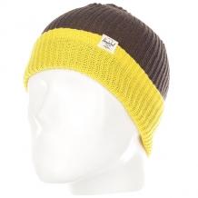 Купить шапка детская herschel youth quartz charcoal/yellow темно-серый,желтый