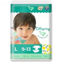 Купить эко-подгузники offspring лимоны l 9-13 кг., 36 шт. 10827135