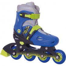 Купить раздвижные роликовые коньки moby kids, сине-зеленые 8317139