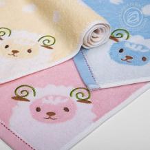 Купить полотенце артпостелька овечка 37 х 75 см, цвет: голубой ( id 11066036 )