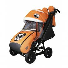 Купить санки-коляска galaxy snow city-2 панда на больших колёсах ева snow galaxy city-2 панда на оранжевом