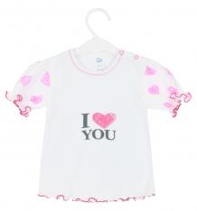 Купить футболка aga serce, цвет: белый/розовый ( id 8482369 )