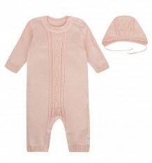 Купить комплект комбинезон/шапка leo очарование, цвет: розовый ( id 9744147 )