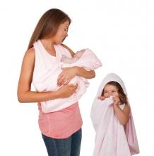 Купить полотенце фартук clevamama splash n wrap, цвет розовый clevamama 996854698