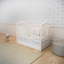 Кроватка-маятник Papaloni Джованни, 120 х 60 см, белый Papaloni 996876065