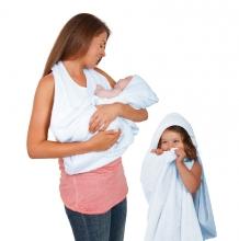 Купить полотенце фартук clevamama splash n wrap, цвет голубой clevamama 996854704