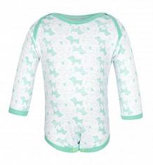 Купить боди чудесные одежки салатовые собачки, цвет: белый/салатовый ( id 5792377 )