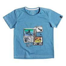 Купить футболка детская quiksilver super tv boy malibu heather синий 1204421
