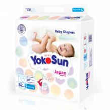 Купить yokosun подгузники s (до 6 кг) 82 шт. 4602009409639