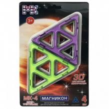 Купить конструктор магникон детали супер треугольники мк-4-ст