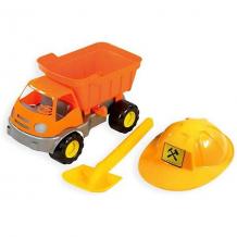 Купить игровой набор для песочницы zebratoys самосвал c каской и лопатой ( id 10018365 )