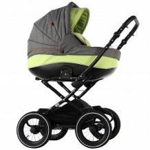 Купить коляска 2 в 1 sevillababy adelia, цвет: темно-серый лён/салатовый ( id 10816736 )